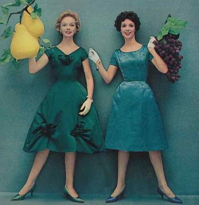 1950s vintage fashion dresses