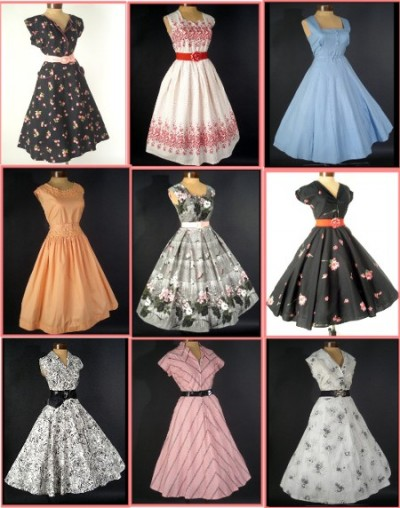 1950fashion Dress  on 1950s Vintage Fashion Dresses