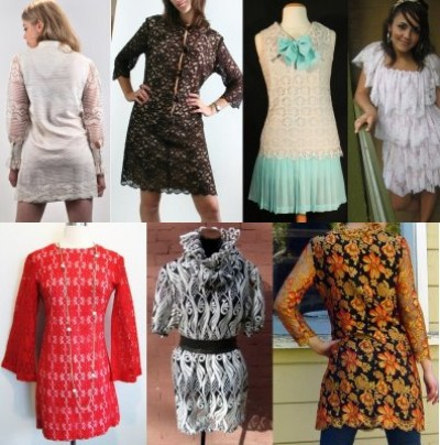 1960s vintage dresses mod fashion