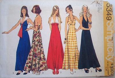 1970s vintage maxi dresses
