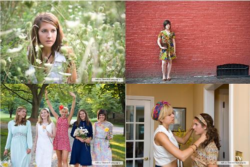womens vintage fashion shoot