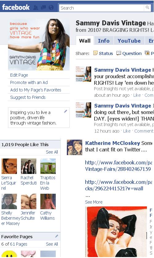 sammy davis vintage facebook fanpage