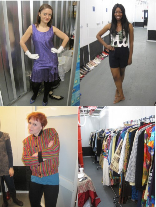 modeling vintage fashion