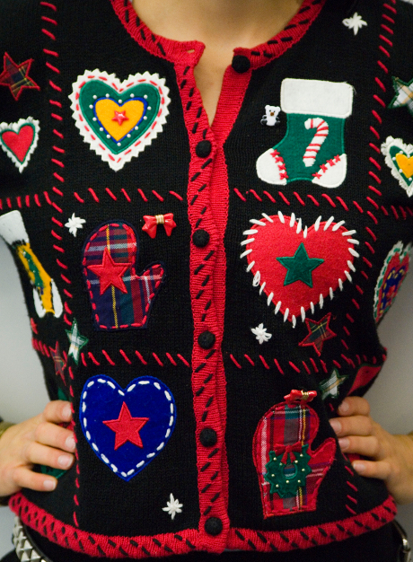 How to wear ugly holiday sweaters
