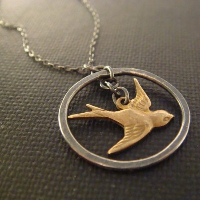 handmade sparrow pendant necklace by queens jewelry independent designers
