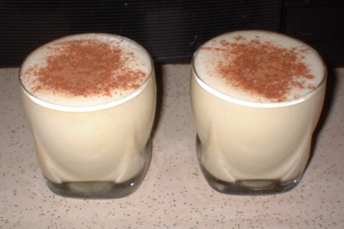 holiday egg nog glasses