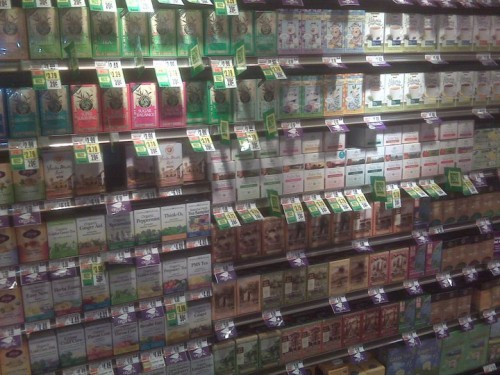 overwhelming selection of tea