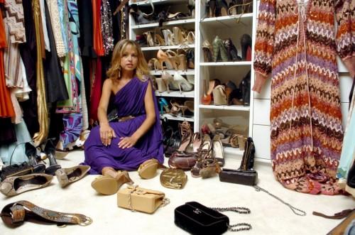 rachel zoe in her closet