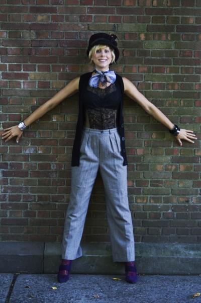 annie hall vintage fashion inspired look