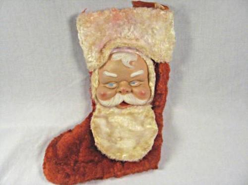 vintage christmas stocking santa