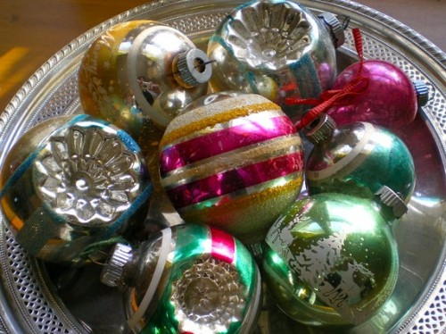 Vintage christmas tree ornament glass balls classic Vintage glass christmas tree ornaments