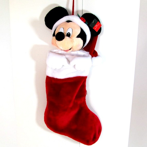 vintage minnine mouse christmas stocking
