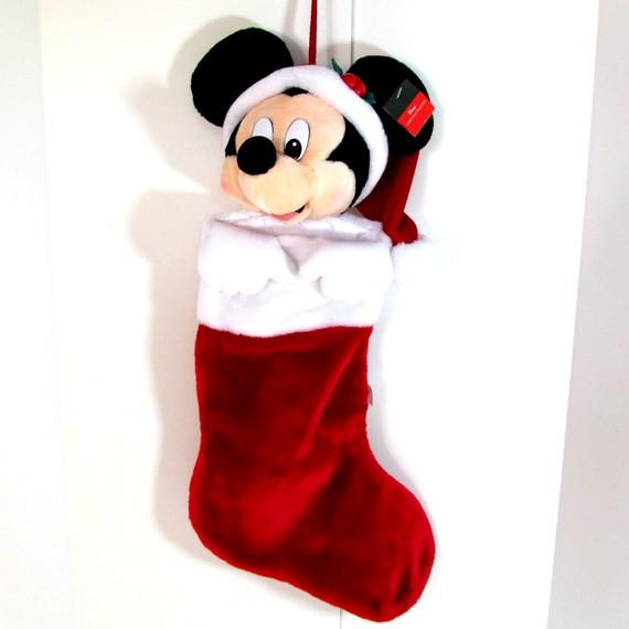 vintage minnine mouse christmas stocking