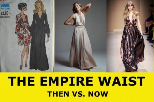 1970s vintage empire waist dress