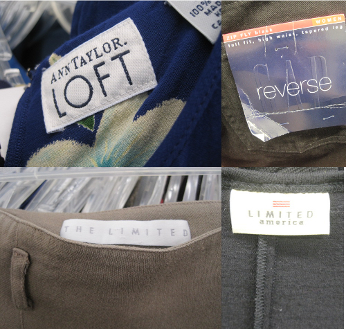 thrift store fashion name brand tags