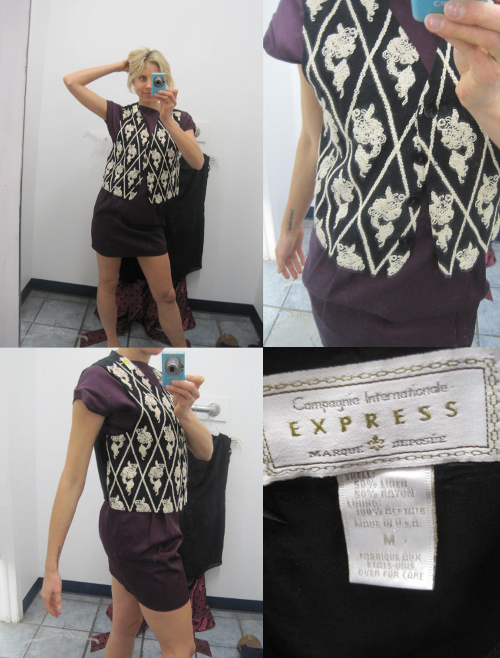 thrift store fashion vintage express vest