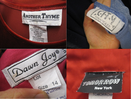 thrift store fashion vintage brand tags