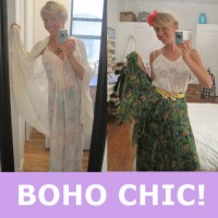 vintage fashion outfit boho chic