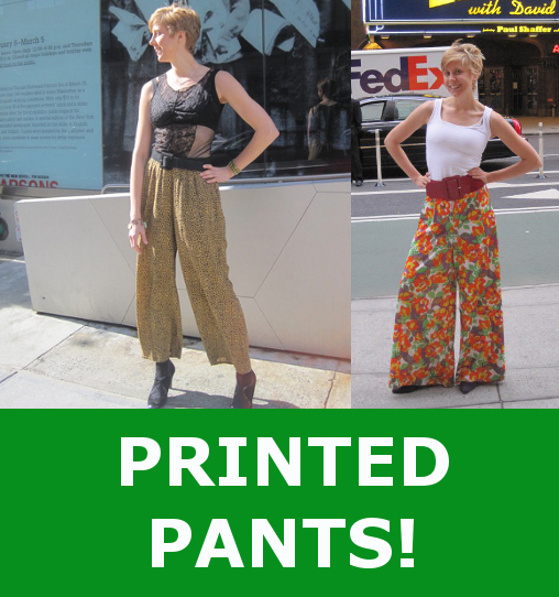 vintage fashion outfit printed pants