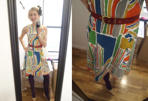 1960s vintage mod dress from artifaktori vintage