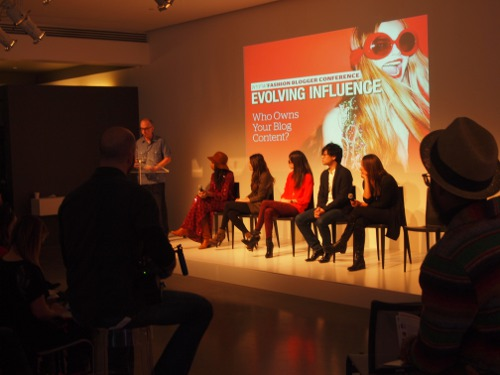 panel at independent fashion bloggers conference