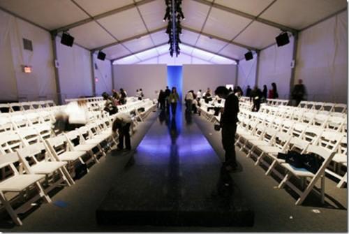 empty runway at new york city fashion week