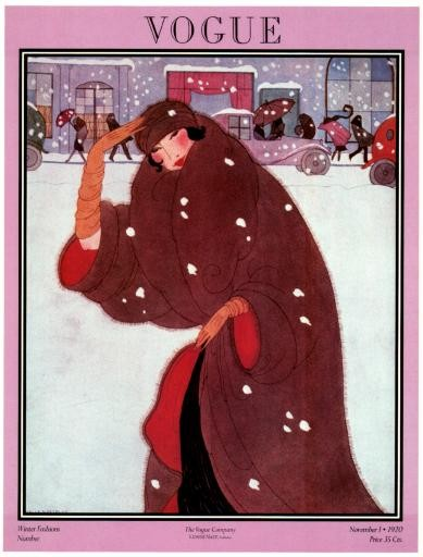 vogue winter fashion vintage magazine cover