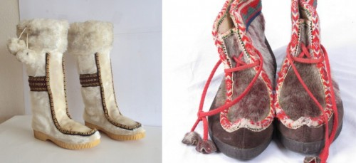 womens vintage eskimo boots from etsy
