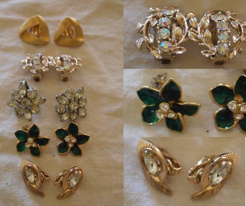womens vintage costume jewelry earrings