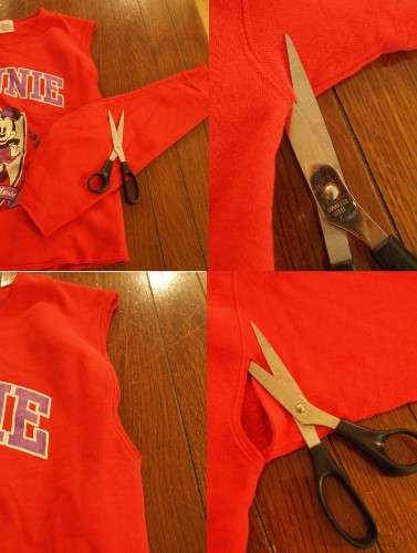 how to turn a sweatshirt into a crop top