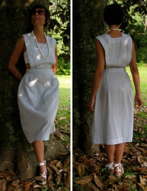 vintage pinafore dress