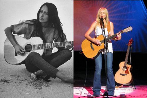 joan baez vs jewel photos