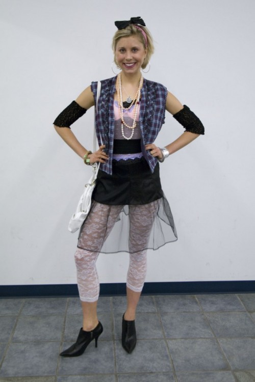 1980s madonna inspired look