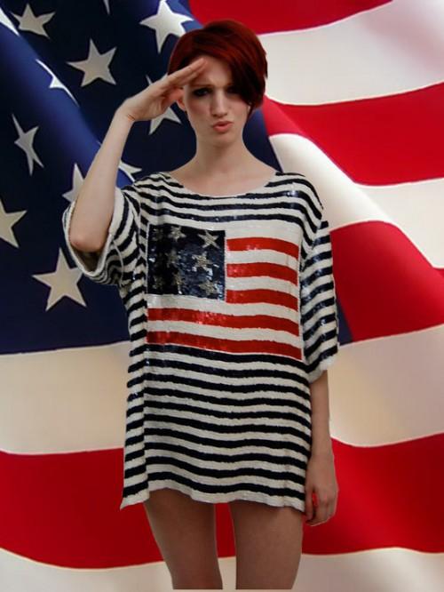 patriotic vintage fashion