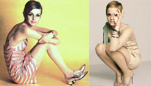twiggy and emma watson comparison pictures