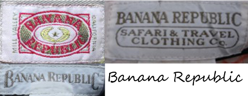 banana republic vintage tags