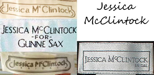 jessica mcclintock vintage tags