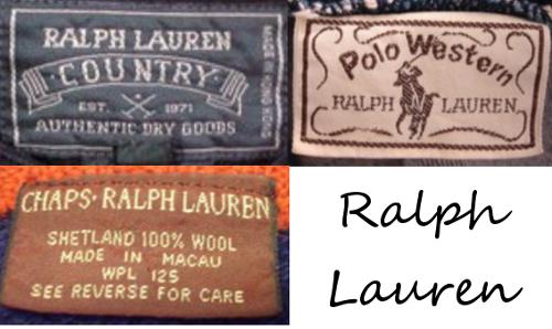 ralph lauren vintage tags