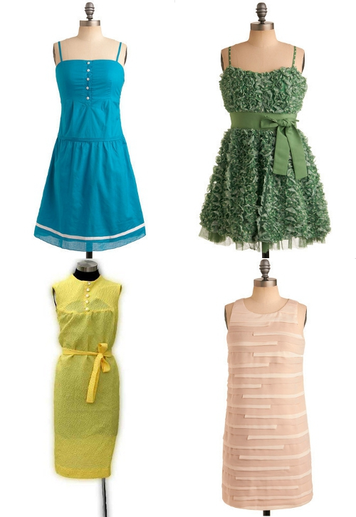 modcloth and etsy vintage spring dresses