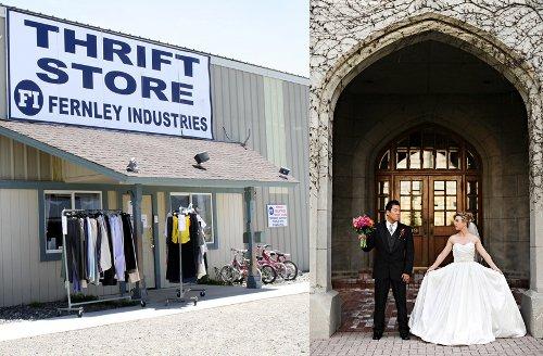 thrift store wedding