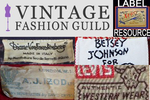 vintage fashion guild label resource