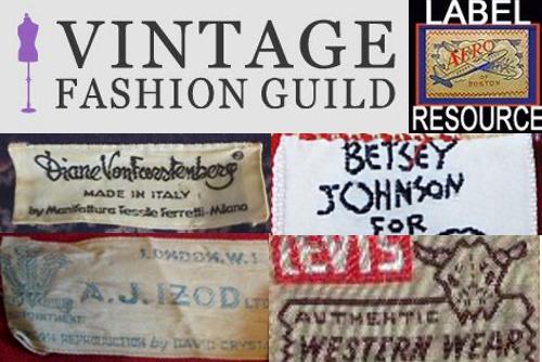 vintage fashion guild label resource