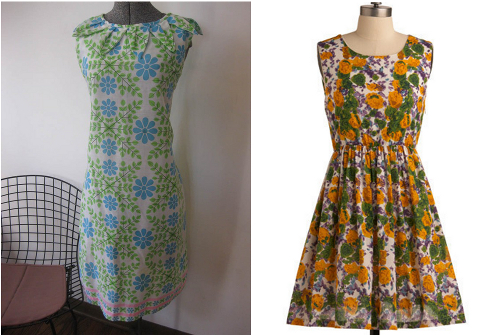 picture of vintage a line dress