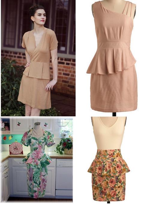 vintage peplum dresses