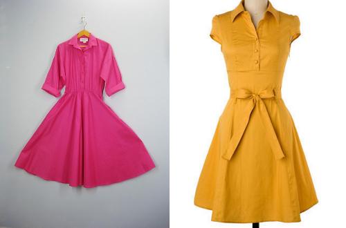 vintage shirt dresses