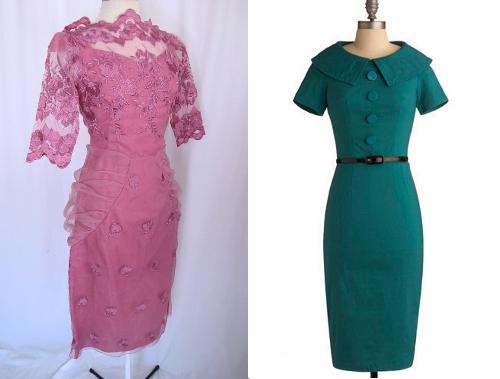vintage wiggle dresses
