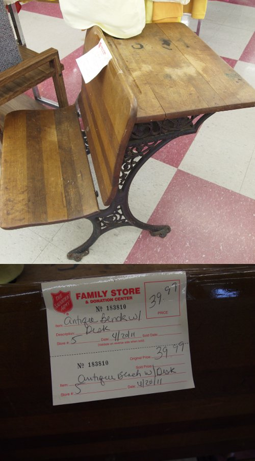 antique vintage desk salvation army