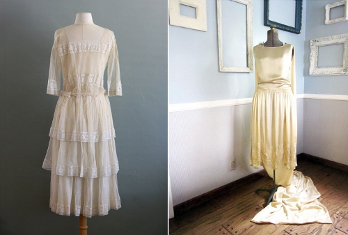 19201930 1920s vintage wedding dress picture