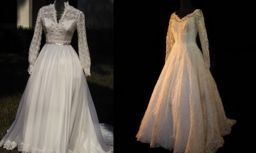 1950s vintage wedding dress picture