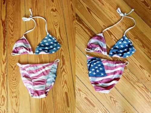 1980s vintage american pride swimsuit